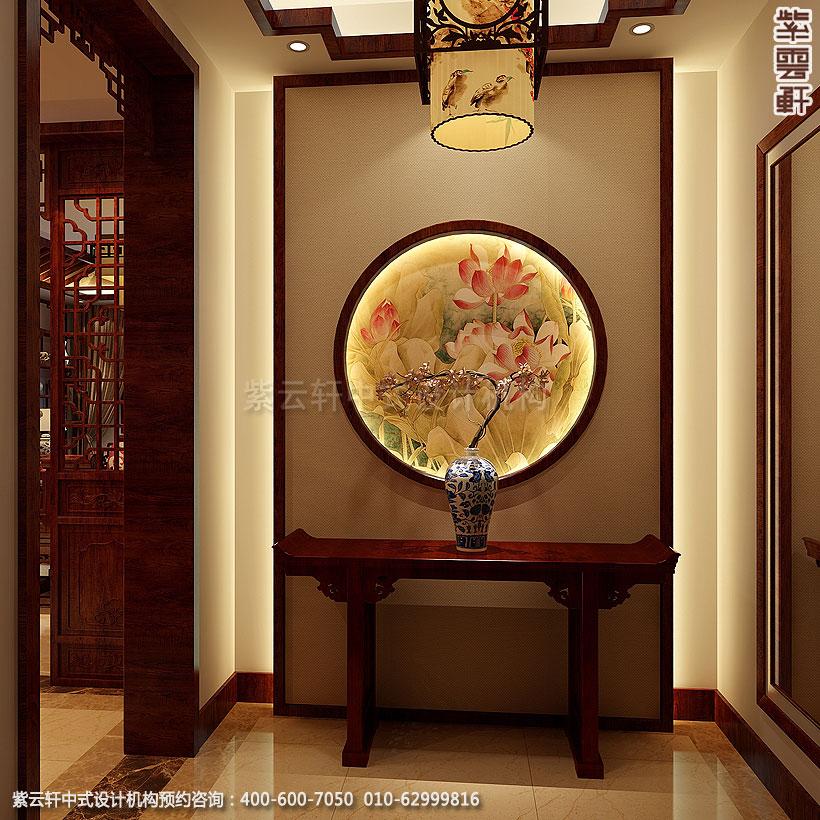 北京方庄复式楼新中式装修门厅
