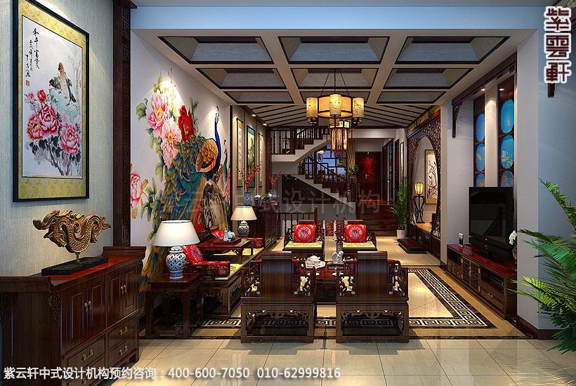 北京方庄复式楼新中式装修客厅
