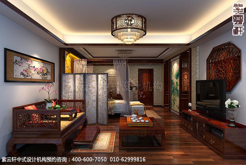 主卧室北京方庄复式楼新中式装修