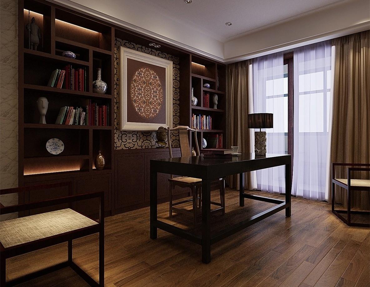 在这中式古典装修的书房之中