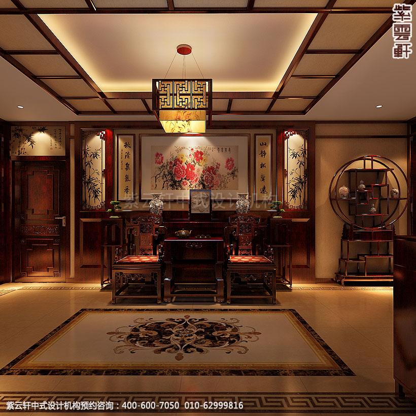 北京简约中式装修精品住宅门厅