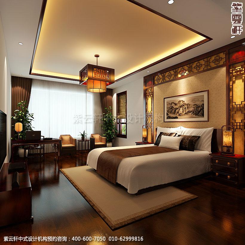北京简约中式装修精品住宅主卧