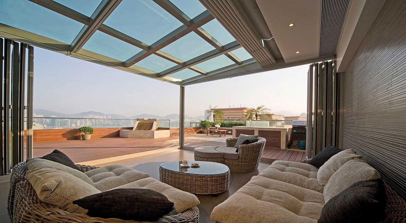 新中式风格阳台设计 庄雅奢华舒适大气