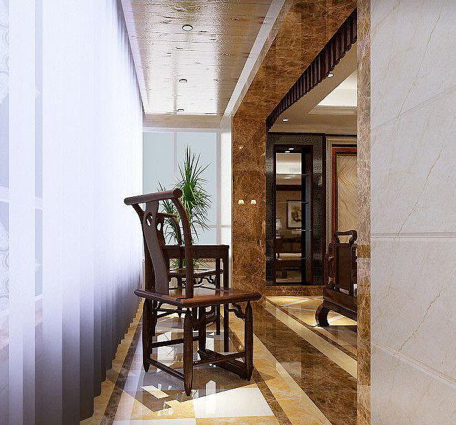 新中式风格阳台设计 庄雅奢华舒适大气图片