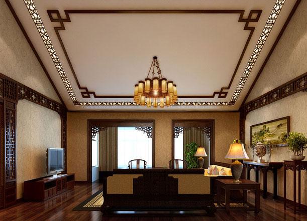 中式装修客厅选用红木家具 凝重而不失风流