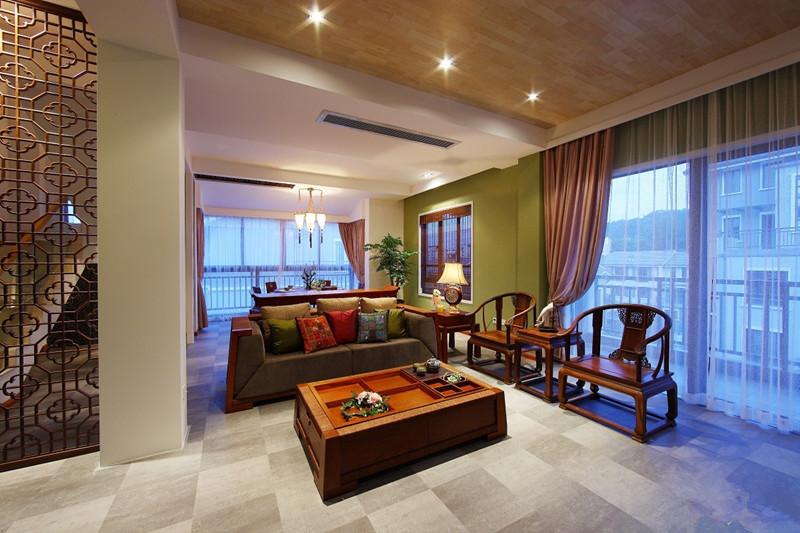 该如何布置中式装修家居客厅的财位风水