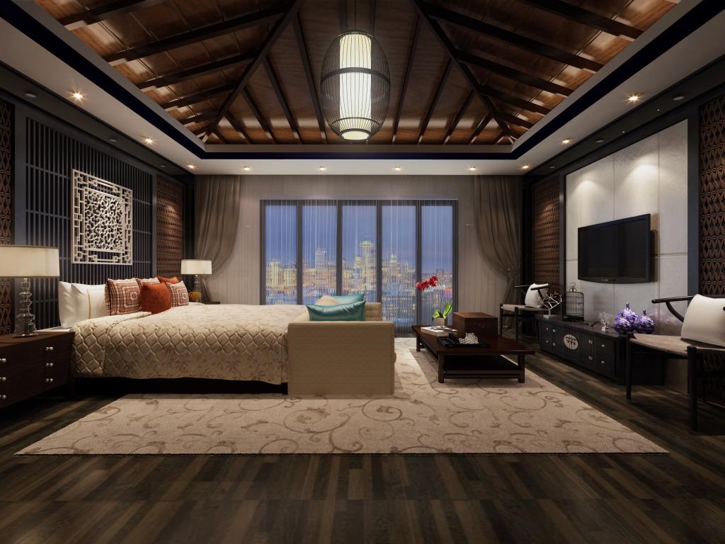 中式装修卧室,电线施工验收
