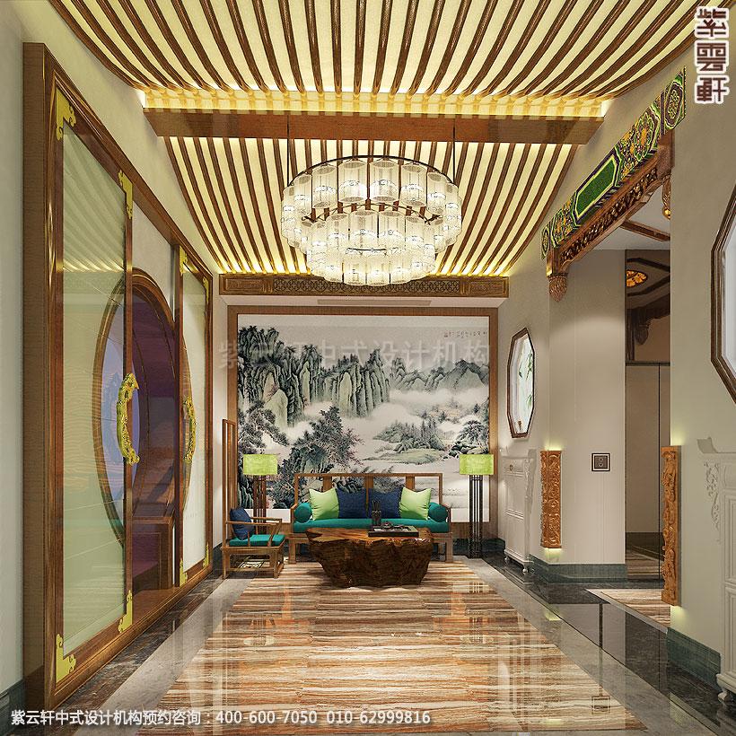 上海中式装修养身会馆大厅