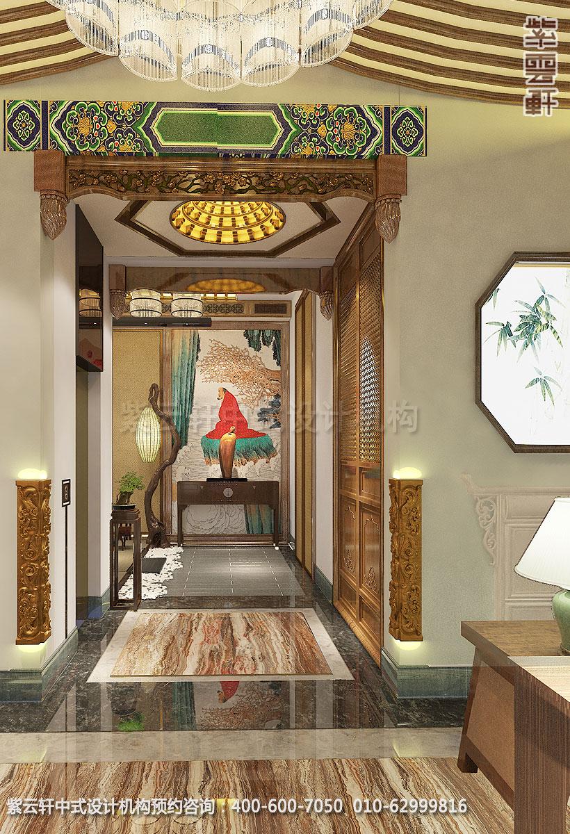 上海中式装修养身会馆 过道