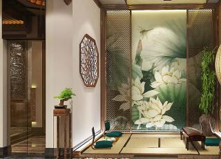 上海中医养生会馆中式装修设计,阔气疏朗的儒雅空间