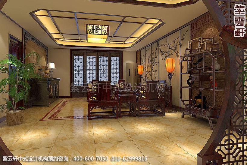 古典中式装修禅意设计住宅 刘宅客厅