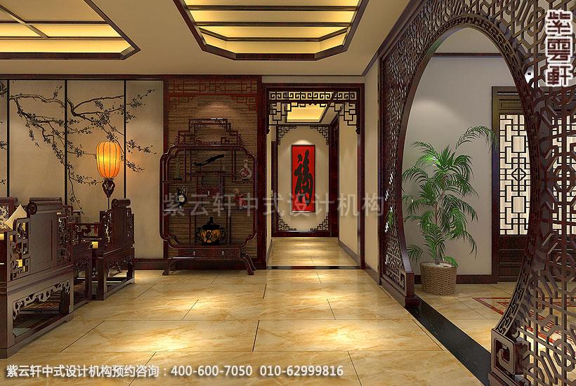 古典中式装修禅意设计住宅 刘宅过道