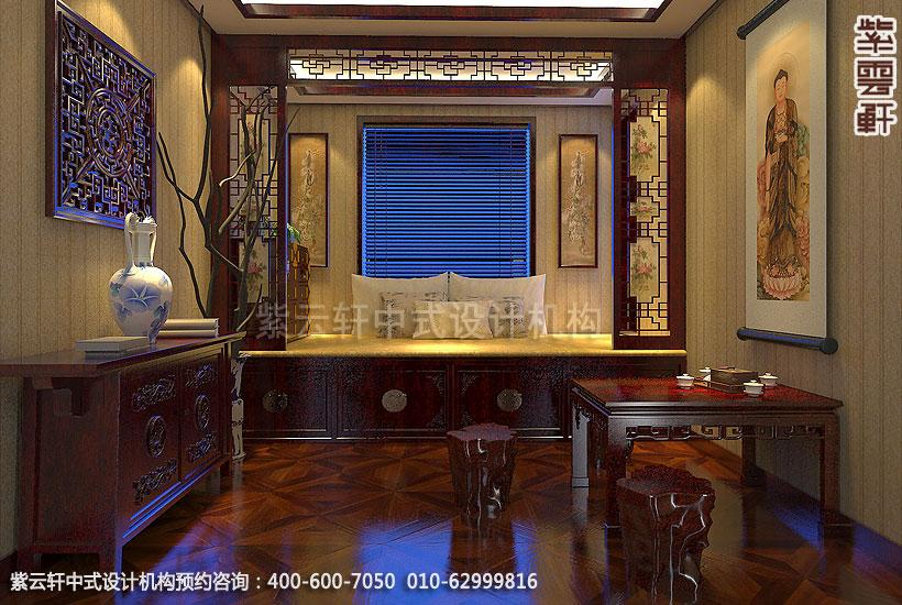 古典中式装修禅意设计住宅 刘宅禅修室