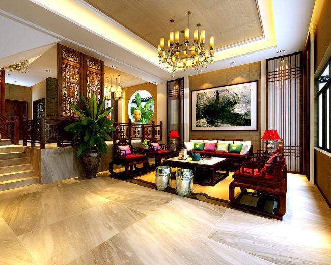 中式设计空间演绎古典、惬意、悠然、风雅的中式生活