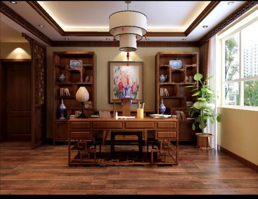 让中式装修家居书房拥有好风水的方法图片