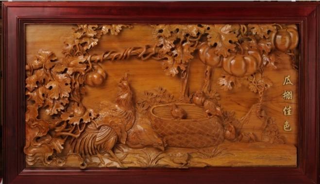 中式古典红木家具雕工之美--四雕工艺精湛圆熟,刻画意境悠远