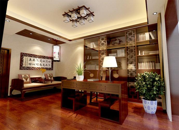 中式书房空间设计,引墨续诗,清净身心