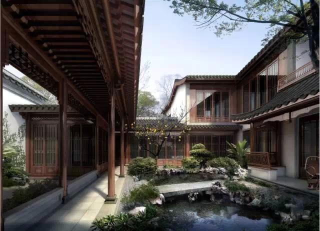 中式风格别墅庭院 借景妙造乾坤