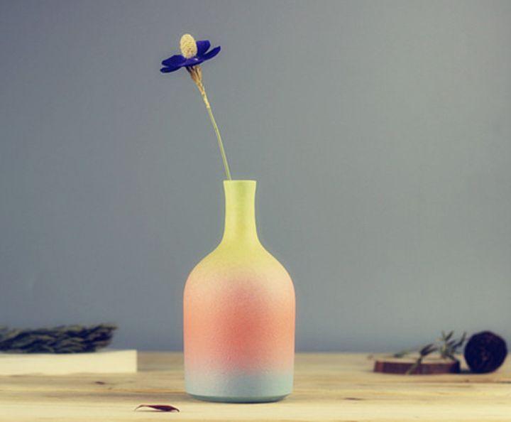 中式空间的个性时尚 景德镇彩色渐变陶瓷花瓶