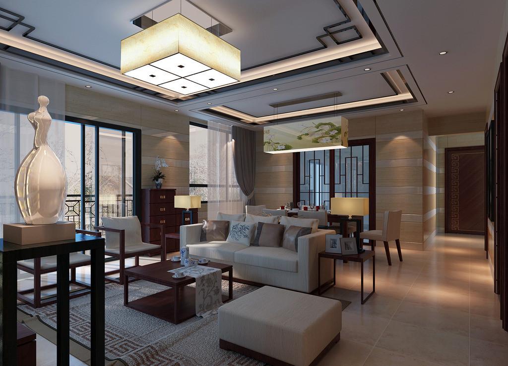 提供时尚优雅的四款中式客厅装修设计方案