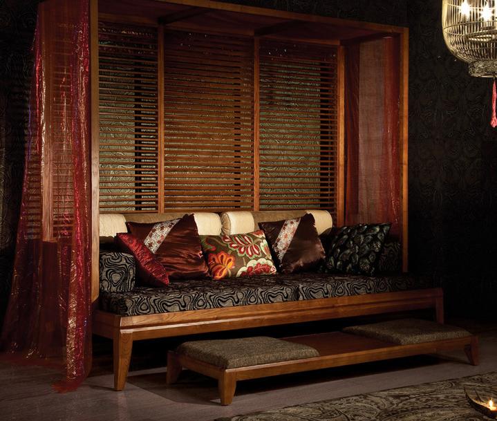 文人中式居室家具陈设|古榻之上,明月清风