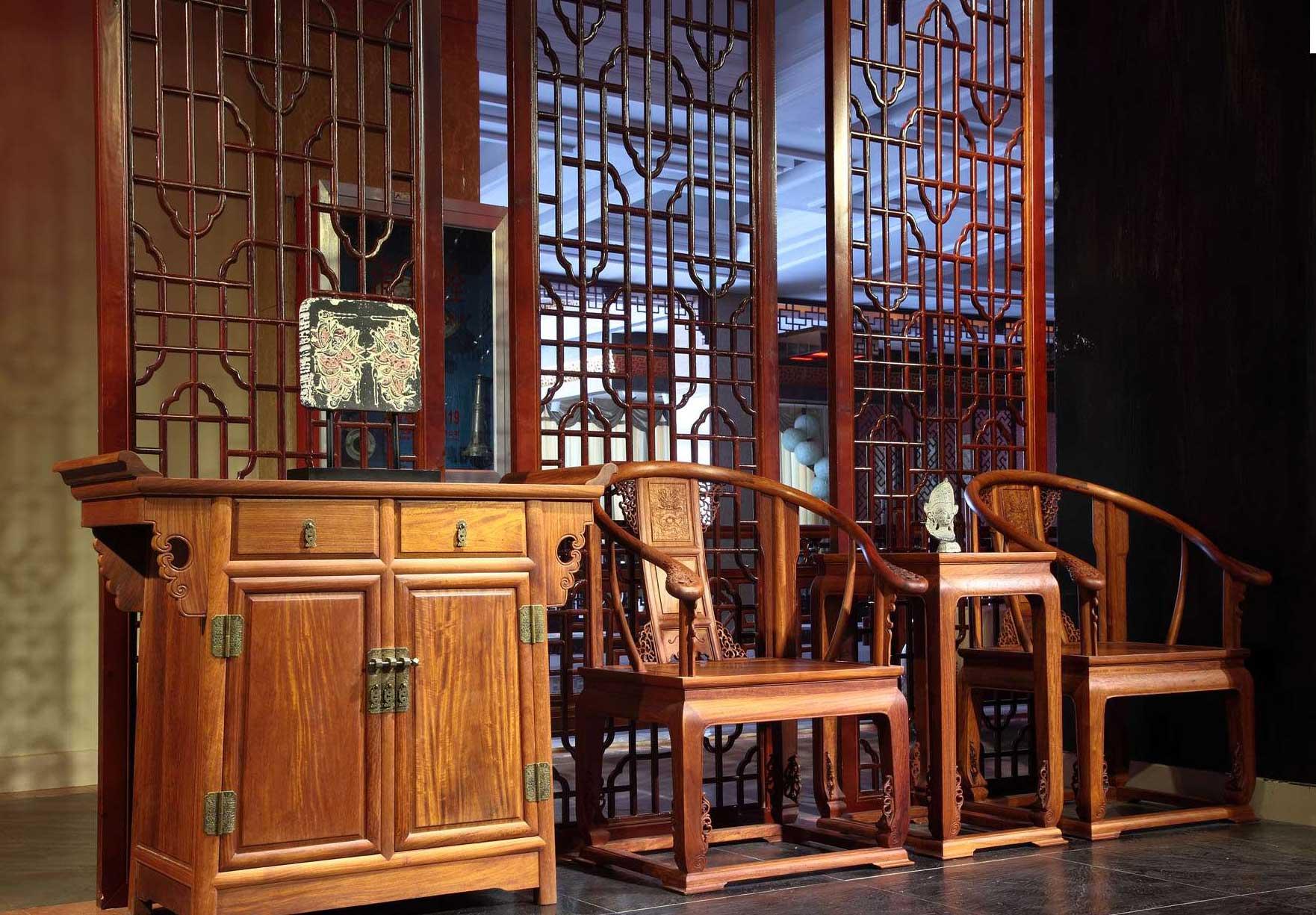 中式居室空间屏风家具演绎古典,静默,掩映,朦胧之美