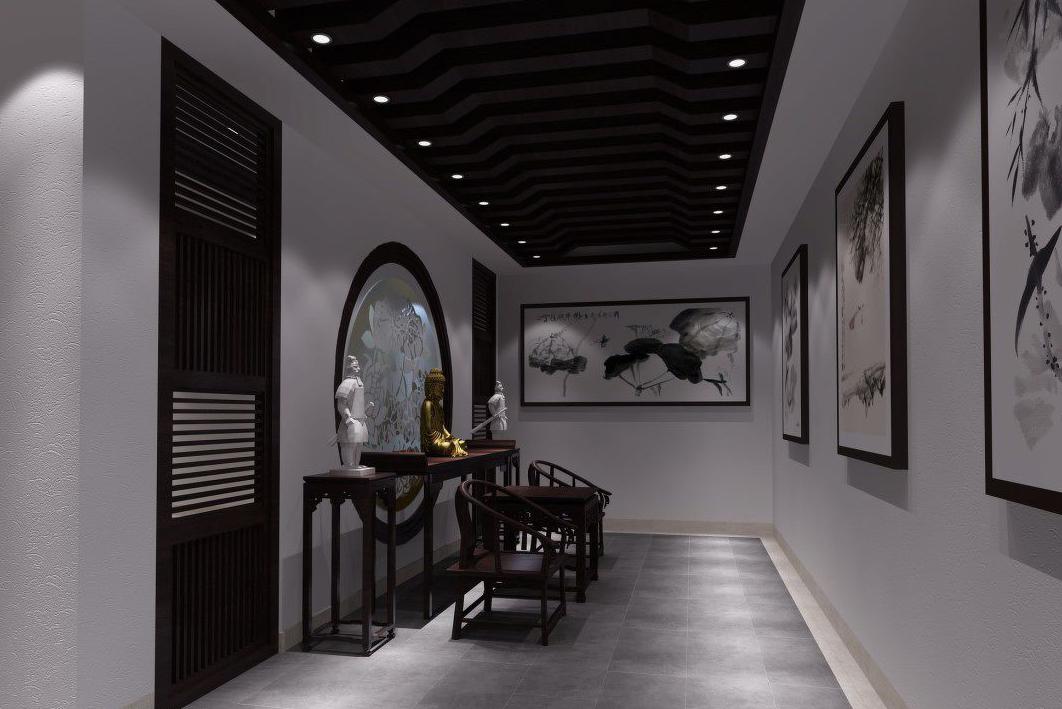 用画点缀,让中式展厅空间融入古典文化