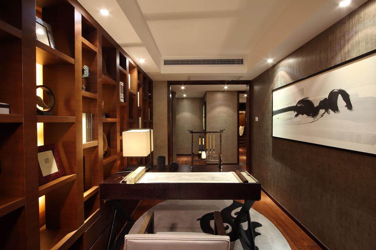 中式书房家具手绘