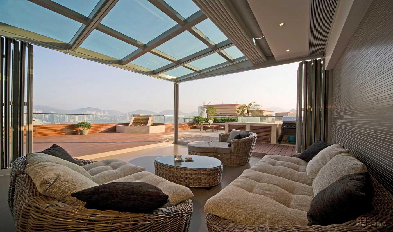 中式装修住宅露天阳台装修时该注意哪些地方