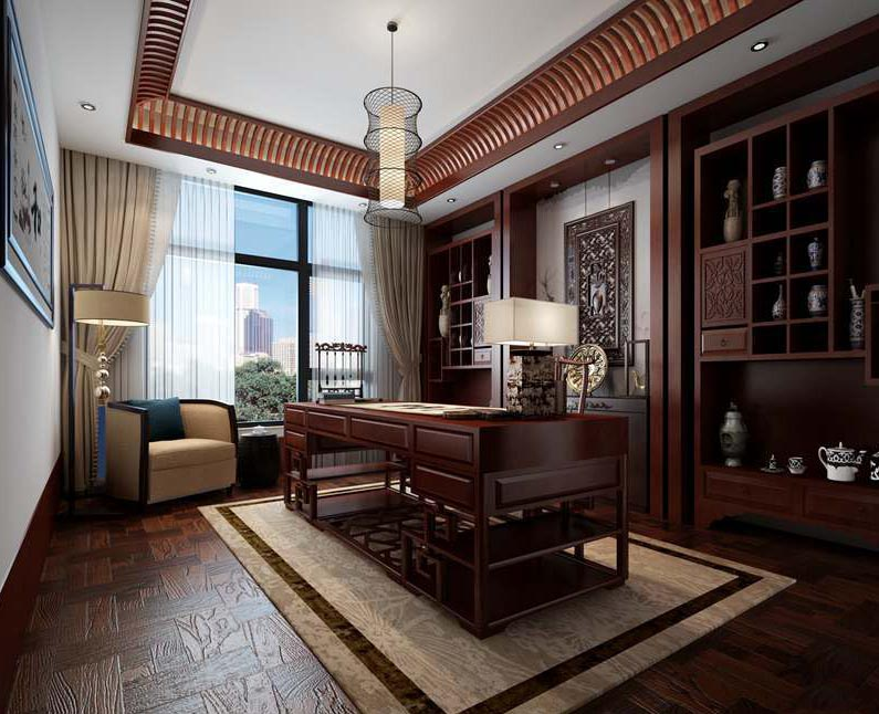 中式书房体会博远的审美情趣、现代文人雅士静神清心之所
