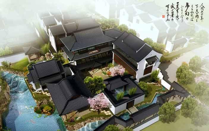 江南风格中式别墅庭院空间 清幽雅境妙蕴无穷的园林意境