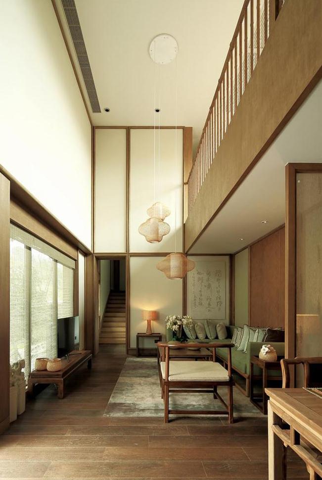 现代禅风中式室内设计 空灵,静观的不尽意韵