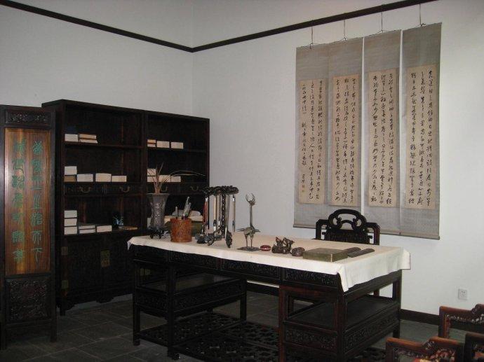 中式古典书房一享林风、茶馨、书香、琴韵之禅想
