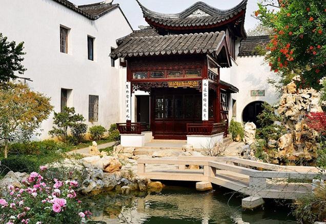 中式风格酒店花间堂探花府 幢幢黛瓦粉墙 影影花木扶疏