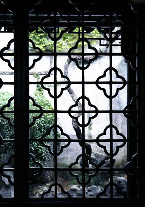 中式园林庭院花窗的形神妙境 质朴无华 灵性自然