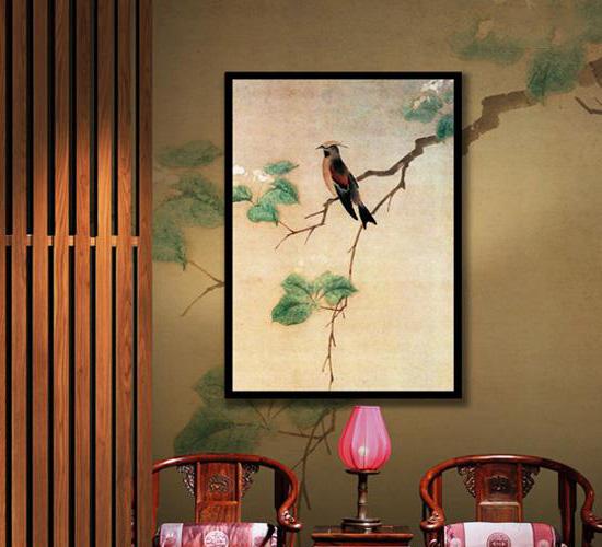 中式室内空间传统花鸟画 灵性承载着美好吉祥的深刻寓意图片