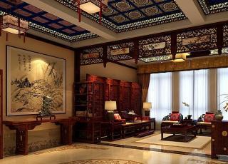 青岛别墅宋宅古典中式装修风格 含蓄内敛 高雅奢华