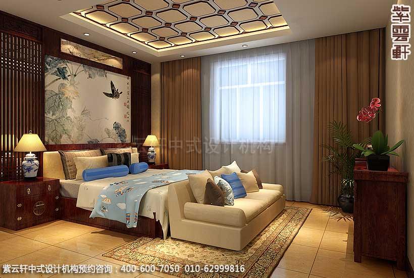 豪华装修样板房图片—现代中式豪华别墅装修效果图案例