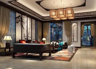 秦皇岛别墅刘主席大宅现代中式风格设计 饱含了庄严典雅的东方气度
