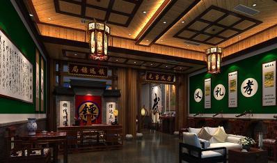 古典中式装修镖局主题会馆 诉说着雅致崇高的古典美学