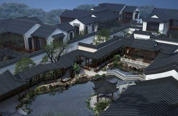 中式风格宅院 蘸尽墨韵诗意的极致空间