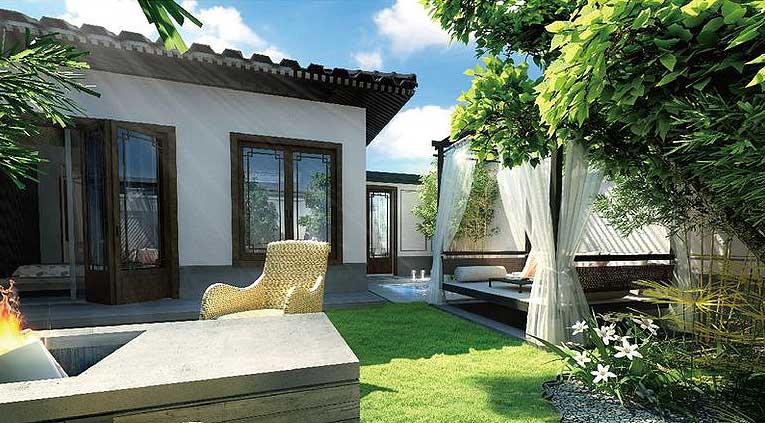 中式设计宅院,门后的生活才是韵味.
