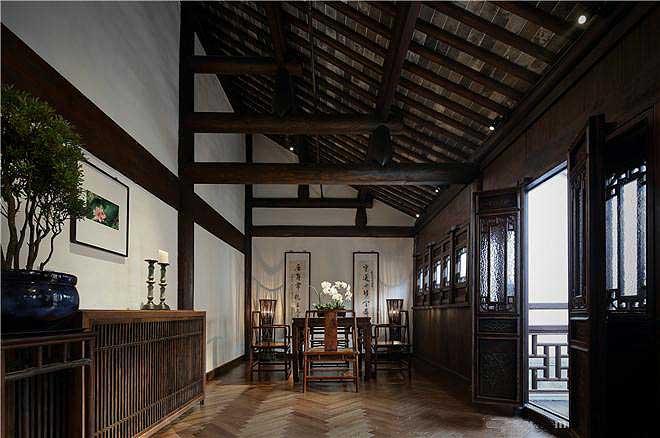 中式设计菜馆空间 营造传统大宅国风气韵