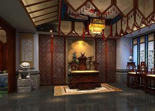 北京远洋张总古典中式装修私人会所,墨守了东方的庄重与尊贵