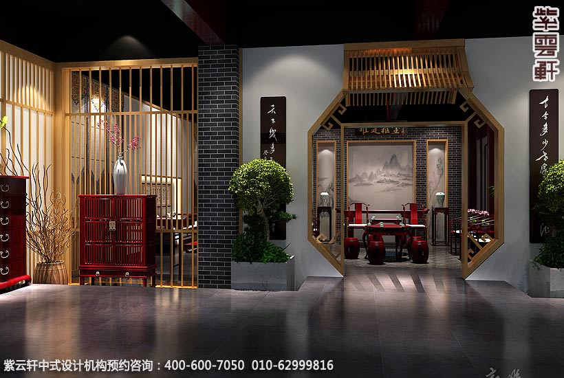 红木艺术馆简约中式设计