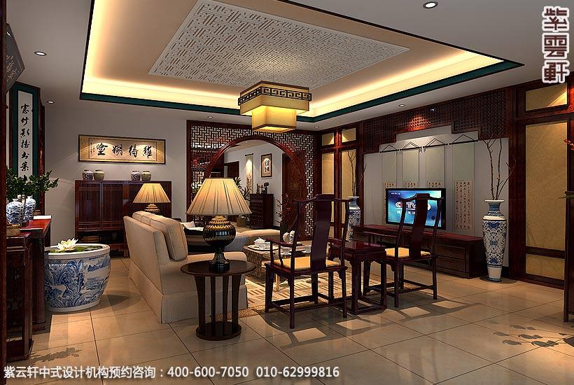 走进中式装修客厅
