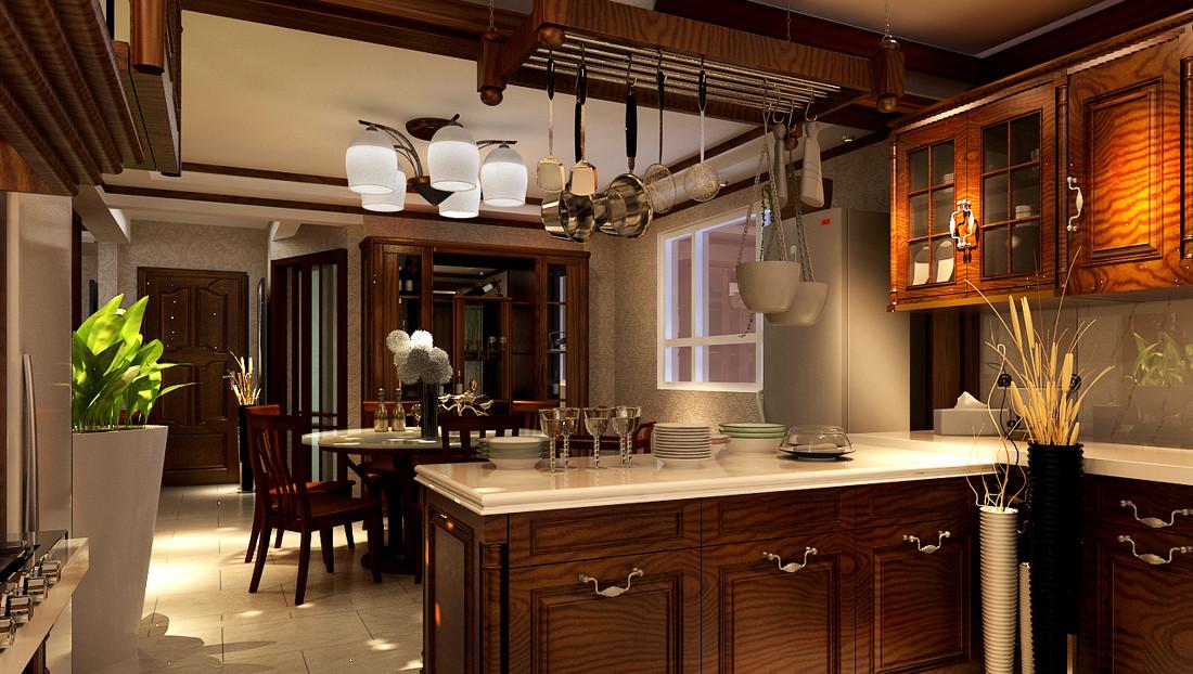 中式装修开放式厨房设计需要注意的四个方面图片