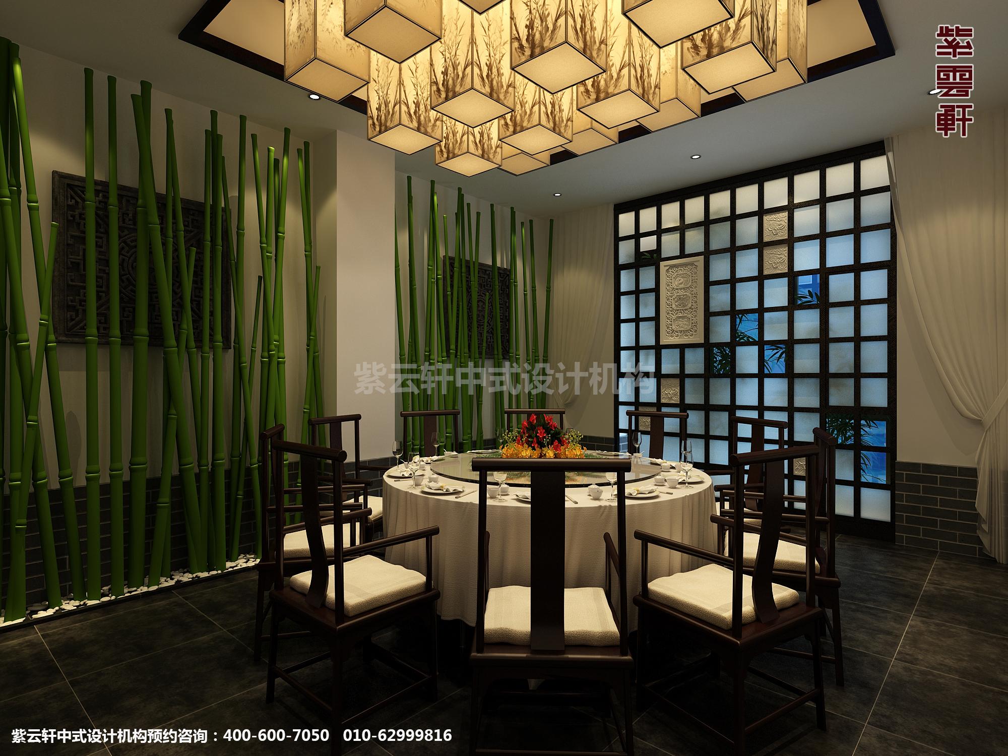 新中式风格高端商务会所设计案例 幽香凝然至雅至尊