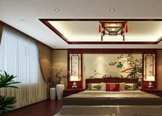 平层住宅古典中式风格装修案例—舒适雅致,纤巧烂漫
