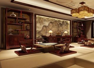邢台古典中式设计别墅效果图 醉倒芳华古风情